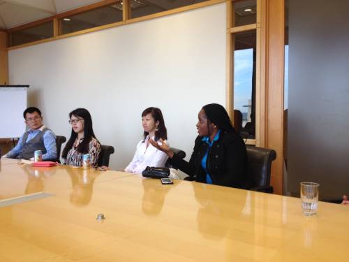 LL.M. students visit a law firm in Portland, Oregon to discuss business law and environmental law issues